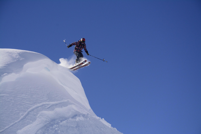 professional skier at alltracks on whistler mountain