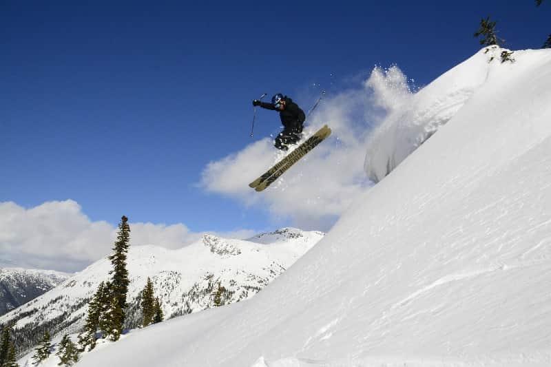 off piste ski jump