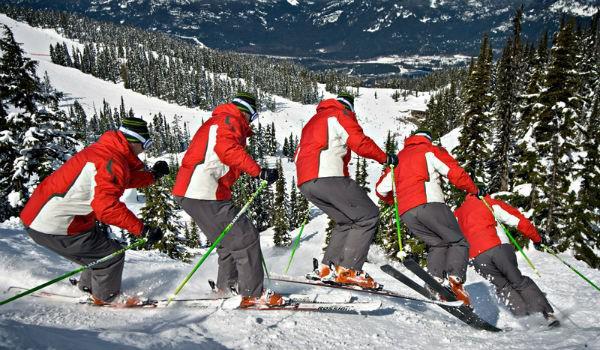 Guy Bump Skiing Whistler